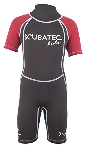 Scubatec 3mm Kindershorty Kids Wave, schwarz-rot, 128-134 (S)