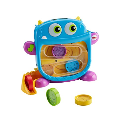 Fisher-Price Hungry Monster Maze, Baby Toy, Rewards Baby with Fun Sounds and Lights, 9 Months Plus
