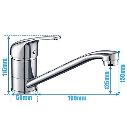Preisvergleich Produktbild Wasserhähne Alle kupfer einhand küchenarmatur joint 360 rotierenden kalten gemüse becken wasserhahn waschbecken wasserhahn Badezimmer