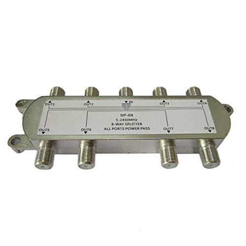 WEIWEITOE SP-08 8-Wege-Signal-Satelliten-Teiler-Fernsehantenne Rf-Koaxialkabel-Teiler WholesaleHot Neues Ankunfts-Silber - Low Loss Rf Splitter