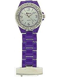Boxx f042.05–Pocket watch, Plastic Purple Strap