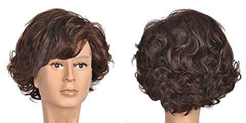 Sherlock Perücke Cosplay Kostüm Wig Film Kurz Lockig Braun Haar Zubehör Hair Accessories