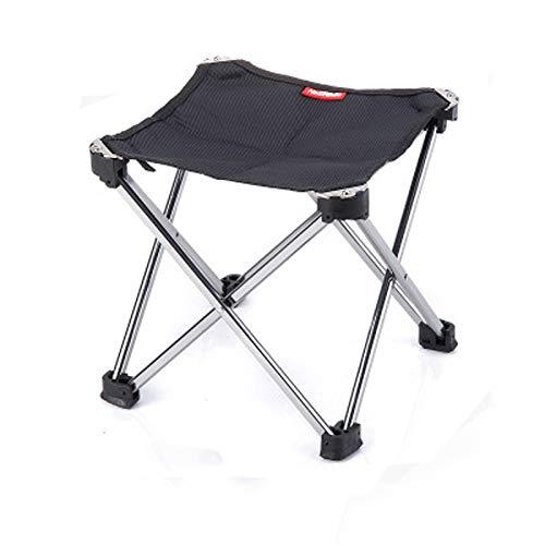 ERLOU Ultraleichter tragbarer Klappstuhl Klappstuhl im Freien Aluminium Angelstuhl Dreibeiniger Hocker Tragbarer Stuhl Stuhl im Freien Mini Stuhl Klappstuhl Angeln Tragbarer Klappstuhl im Freien (Mini-falte-stuhl)