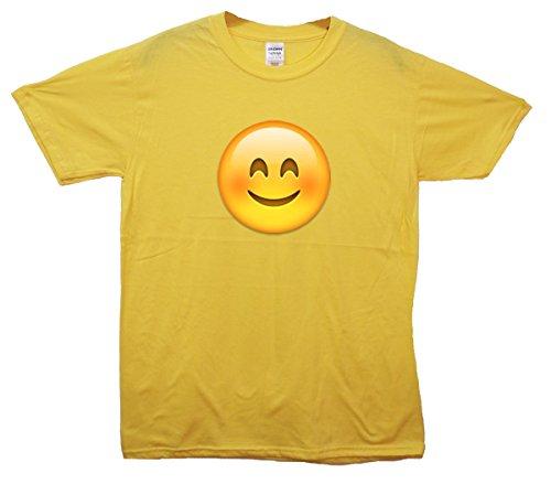 Happy Face Emoji T-Shirt Gelb