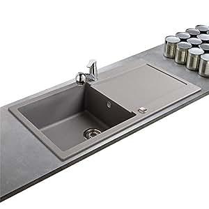 evier granit franke maris gris stone 1 grand bac 1. Black Bedroom Furniture Sets. Home Design Ideas