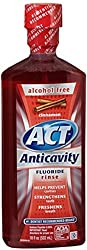 6 Pack - ACT Anticavity Fluoride Rinse Cinnamon 18 oz