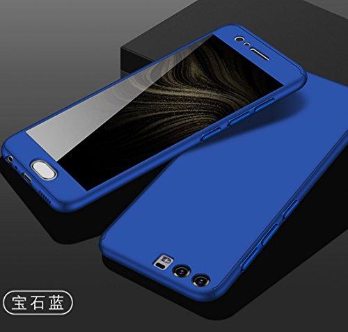 Huawei GX8 Armor Funda, 360° Full Edge Combined Awesome Ultra Hybrid Carcasa With Glass, TAITOU Cool Ultralight Slim Anti-Drop Phone Funda For Huawei GX8 Blue
