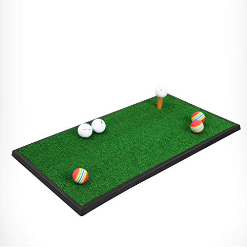 Golf Practice Mat, 38x65cm Portable Golf Hitting Mat Golf Chipping and Driving Mat for Backyard Indoor Practice -