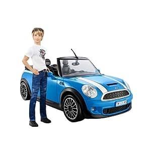 barbie x2850 ken mit mini cooper fahrzeug auto ca 40. Black Bedroom Furniture Sets. Home Design Ideas