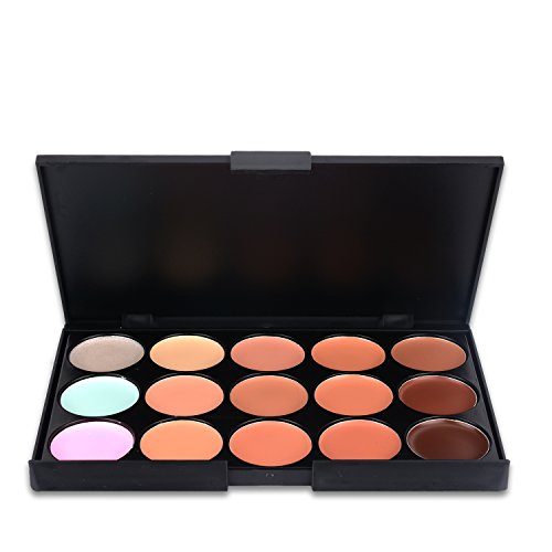 Make Up Palette Start Makers 15 Colors Professional Cream Contour Face Cream Concealer Highlighting Makeup Foundation With 11 Pieces Bamboo Make Up Brushes