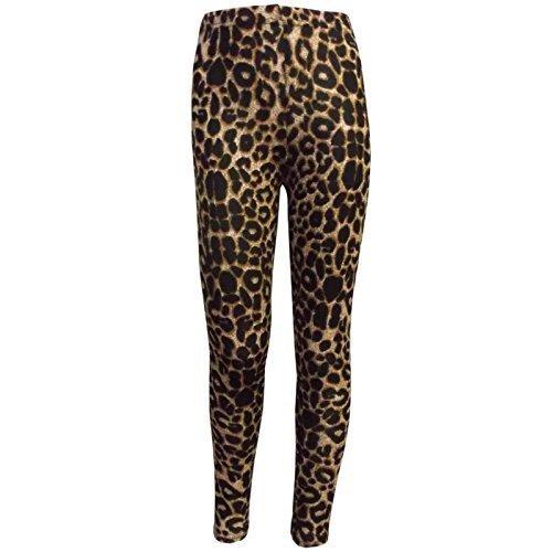 (A2Z 4 Kids® Kinder Mädchen T-Shirt Love Tartan Zebra Leopard Aufdruck Modische Mode Tops Alter 7 8 9 10 11 12 13 Jahre (11-12 Jahre (146-152), Braun Leopard Legging))