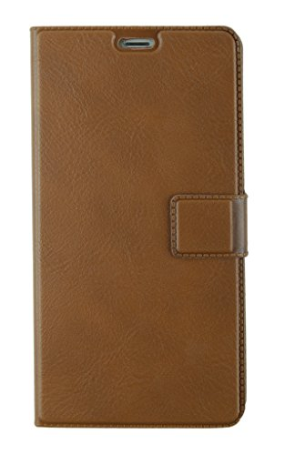 MACC Business Premium Faux Leather Flip Case Flip Cover for For Xiaomi Redmi Note 3 - with Stand , Magnetic Lock, Card & Currency Wallet - ( Executive Brown)
