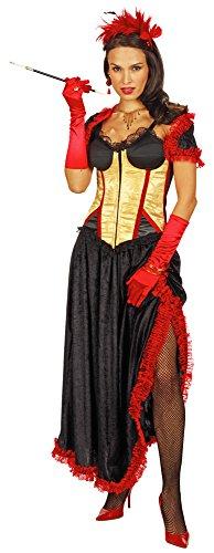 Wild Western Saloon Girl Chantall Kostüm Gr. (Saloon Girl Rot Kostüme)