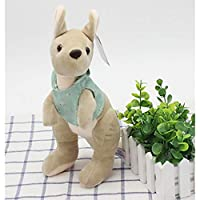 qingbaobao Lovely Dressing Kangaroo Plush Toy,Plush Dolls For Children Soft Cotton, Baby Animals For Gift (25Cm)