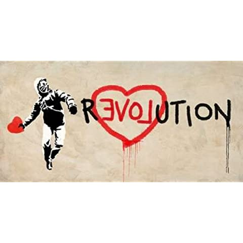 Revolución por masterfunk colectiva–Fine Art Print disponible sobre lienzo y papel, lona, SMALL (42.5 x 21 Inches