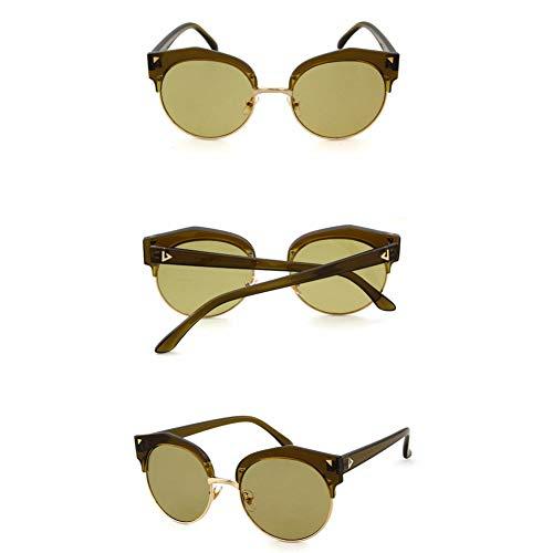SYQA Sonnenbrille Cat Eye Sonnenbrillen Damen Herren Half Rim Sonnenbrille Vintage Für Herren Damen Driving Eyewears,C1