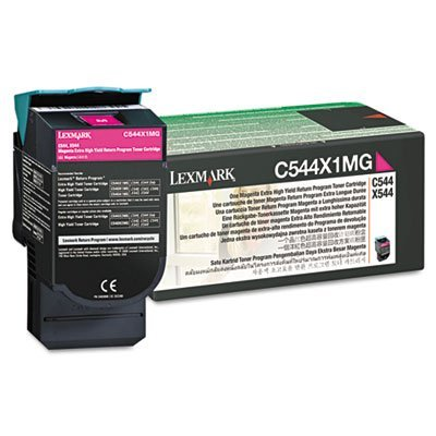 Magenta 4000 Page Yield (C544X1MG Extra High-Yield Toner, 4000 Page-Yield, Magenta, Sold as 2 Each by Lexmark)