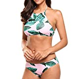 Rayas Ado Bandage Traje de Baño Swimwear Beachwear del Cuerpo, Nuevas señoras Bikini Encanto de Cristal Crossover arnés Cintura Vientre Cuerpo Cadena Collar (Plata) Bikini de Mujer 2019 Push-Up/Sexy