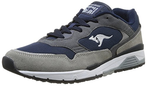 Kangaroos Ultimate 3, Baskets mode homme Gris (Mid Grey/Dk Navy 242)