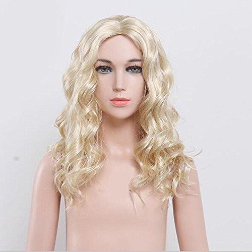 WG(New) Kinder blondes Haar der hohen Qualität kräuselt Prinzessin Perücke-Kind