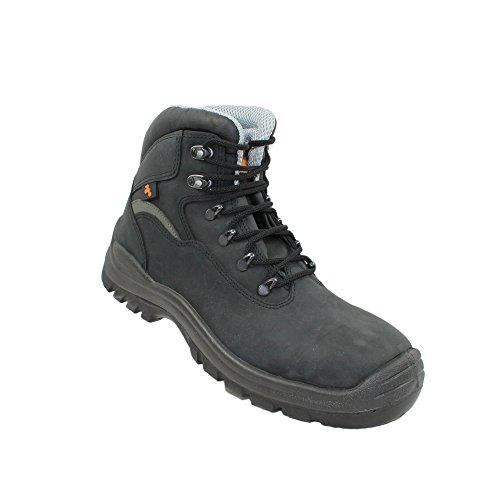 TPS T8221 S3 Sicherheitsschuhe Arbeitsschuhe Berufsschuhe Businessschuhe Trekkingschuhe hoch Schwarz Schwarz