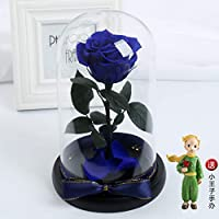 GE&YOBBY Preserved Rose,handmade Never Withered Real Rose In Glass Dome Real Touche Rose With Led Lights For Christmas Valentine
