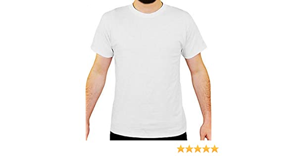 ddb0f086610 LOVETRENDS 6 Pack Mens Plain White T-Shirt 100% Cotton Blank Basic Top  Casual Multi Pack S