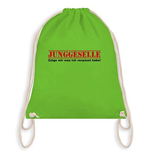 JGA Junggesellenabschied - Junggeselle - Zeige mir was ich verpasst habe - Turnbeutel I Gym Bag Hellgrün