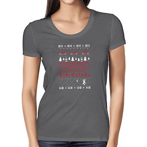 NERDO - Strange Christmas - Damen T-Shirt Grau