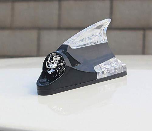 CSCR Auto Rücklicht Dekorative Lichter Kollision der Verteidigung Auto-Antennenlicht, Windenergie Automatischer Glanz,White