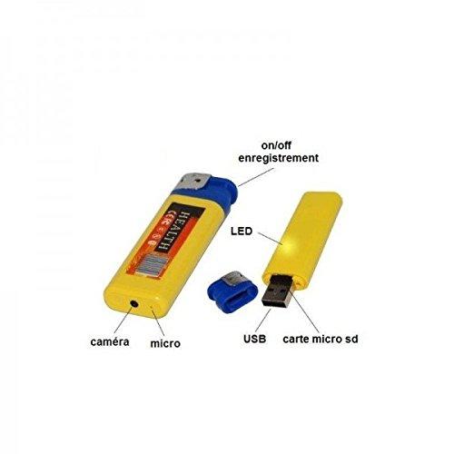 Mechero-cmara-espa-Mini-con-Micro-Integrado–Tarjeta-Micro-SD-16-GB