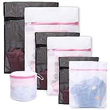 Lavandería Bolsa de lavado 7 Pack Durable Mesh Lavado Blanqueo Blusa, Medias, Medias,
