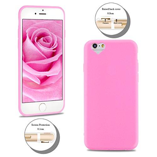 2×Cover iPhone 6 Plus (5.5 pollici) Spiritsun Apple 6S Plus (5.5 pollici) Moda Ultraslim TPU Case Elegante Carina Souple Flessibile Morbido Silicone Copertura Perfetta Protezione Shell Paraurti Custod Rosa + Nero