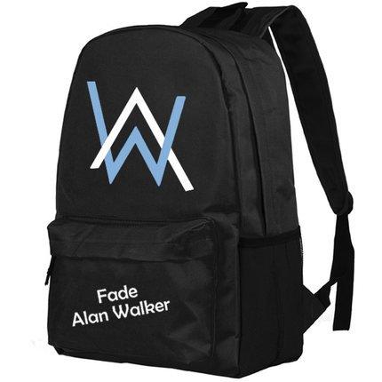 Alan Rucksack Schwarz Polyester Oxford School Student Tasche Große Kapazität Backpack für Teenager Jungen Kleidung Zubehör (C style)