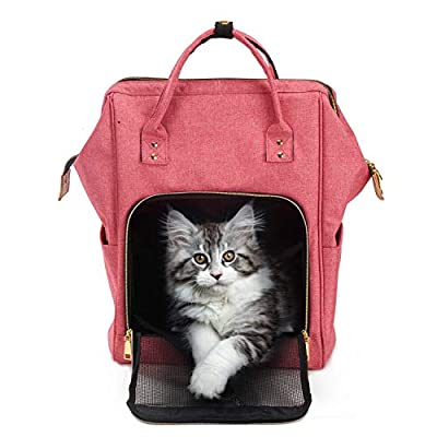 HAPPY HACHI Cat Carrier Backpack Puppy Travel Bag Portable Folding Pet Rabbit Fashion Handbag from HAPPY HACHI