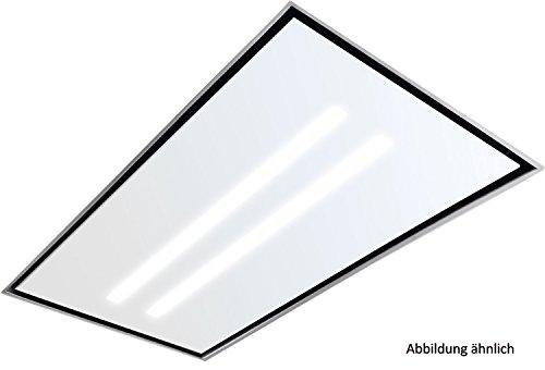 Silverline quld 104W tablero de cristal con iluminación LED, color blanco cristal 100x 60cm/Campana accesorios