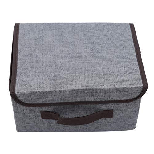 Eleusine Vliesstoff Veranstalter Box Mit Kappe Bonbonfarben Kabinett Schrank Unterwäsche Spielzeug Aufbewahrungskoffer Kosmetische Container (Grau) -