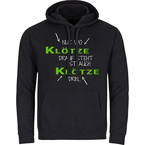 Kapuzen Sweatshirt Nur wo Gommern drauf steht ist auch Gommern drin schwarz Herren Gr. S bis 2XL, Größe:XL