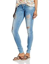 ONLY Damen Jeanshose Onlcoral Sl Sk Destroy Jeans Cre332 Noos