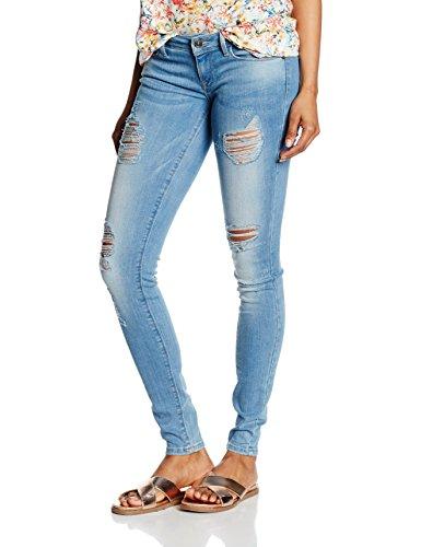 ONLY Damen Skinny Jeanshose onlCORAL SL SK DESTROY CRE332 NOOS, Gr. W29/L32 (Herstellergröße: 29), Blau (Light Blue Denim)