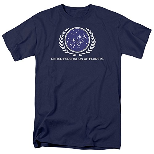 Star Trek - St / United Federation Logo Adult T-Shirt In Navy