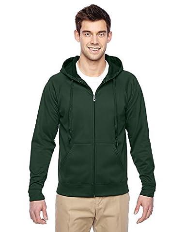 PF93 Jerzees Adult JERZEES® SPORT TECH FLEECE Full-Zip Hooded Sweatshirt (Forest Green) (3XL) (US)