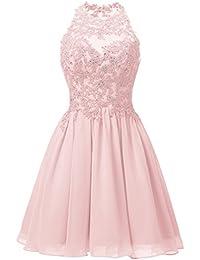 Kleid rosa kurz spitze