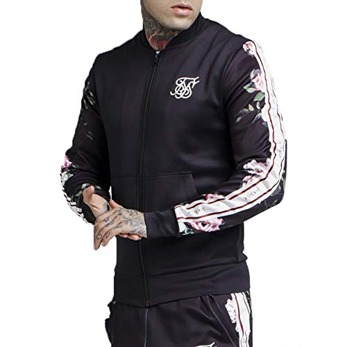 50cdd12b9ce Track Top Siksilk Oil Paint Poly Tricot Bomber Negro L (Large)