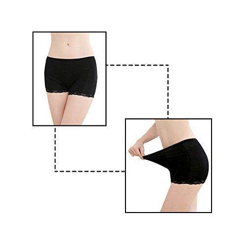 JUDY 3er Pack Damen/Mädchen Spitze Stretch Baumwolle Boxershorts-Super weiche Panty, Damen Hipster Seamless Spitze Kante