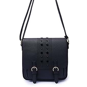 2ce72e4c6342d Bild nicht verfügbar. Keine Abbildung vorhanden für. Farbe  HGDR Retro Handtasche  Frauen Schulter Messenger Bag Plain Schnalle Portable ...