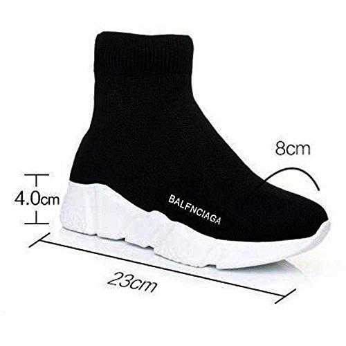 Tessuto elastico di alta moda Calze Scarpe DONNA Black