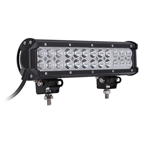 Lorsoul 9 pollici impermeabile antiurto 72w led work light bar led di guida lampada della barra per l'automobile barca camion
