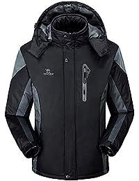 29e358846c61 ITISME Homme Manteaux Mode Chaud Hiver des Hommes Loisirs Zippé à Capuche Doudounes  Col Montant Vêtements
