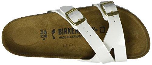Birkenstock Yao, Bout Aperto Donna Bianco (Vernis Blanc)